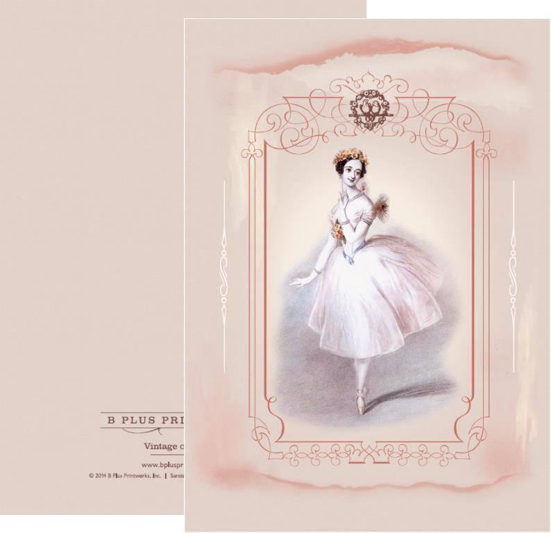 B+ Printworks 203VIN02 Card - Marie Taglioni / Love Birds