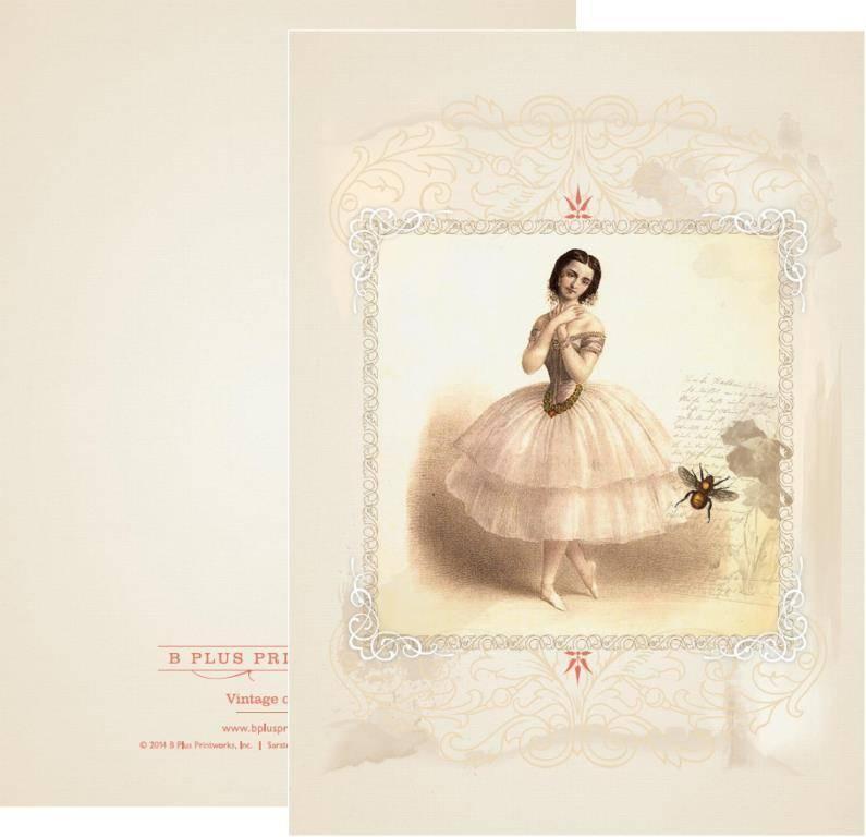 B+ Printworks 203VIN03 Card - Marie Taglioni / Bee
