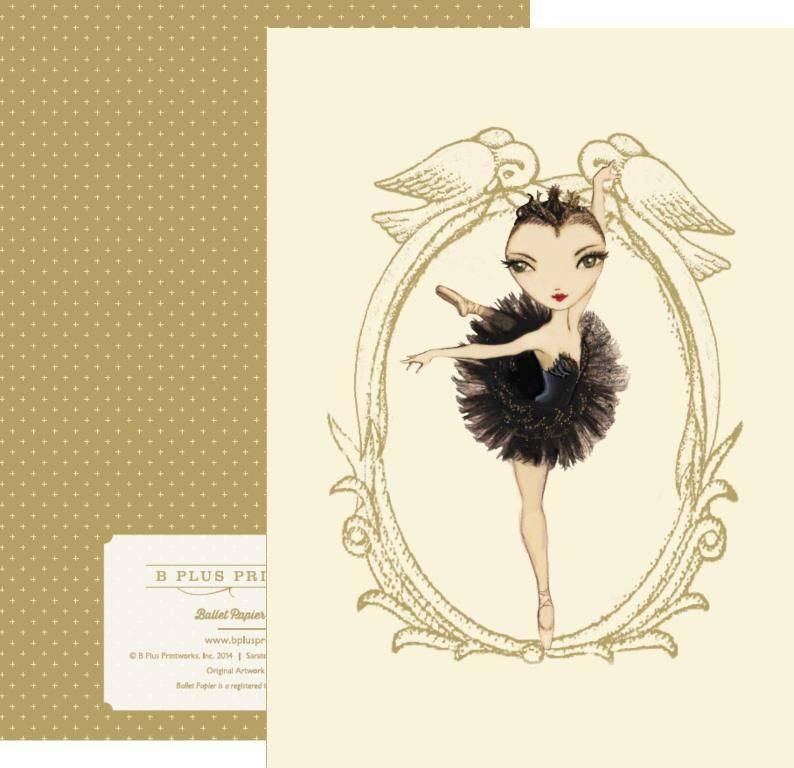 B+ Printworks 204BP01 Card - Odile (Green)