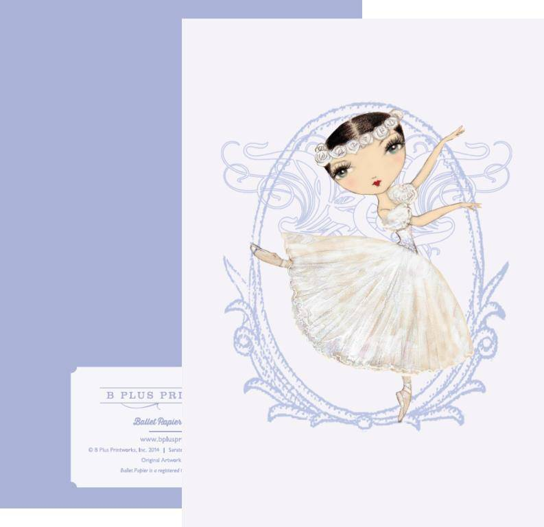 B+ Printworks 204BP04 Card - Queen of the Wilis (Lavender)