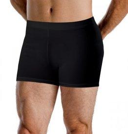 Motionwear 7199 Mens Elastic Waist Shorts 497 BLK Silkskyn IC