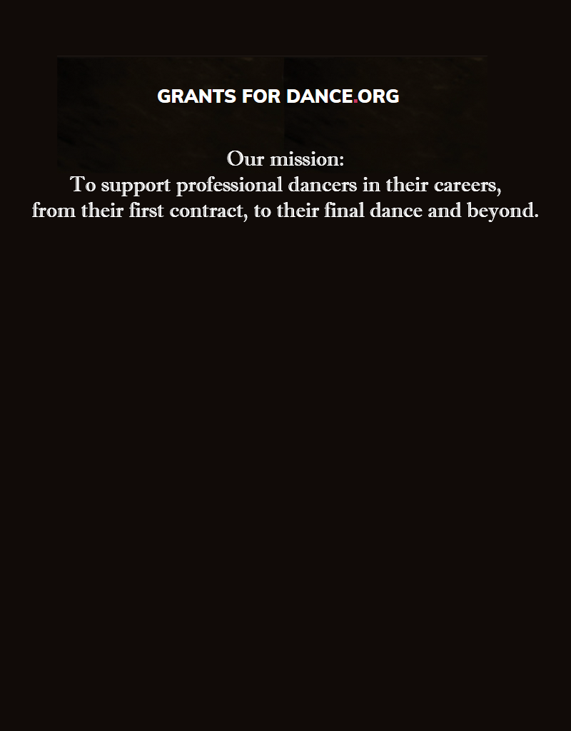 Donate for Grants for Dance