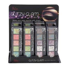 Jet Cosmetics 2463DB Glitzy Glam Eye Palette