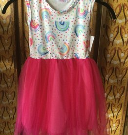 Mila & Rose Rainbow Dot Tank Tutu Dress