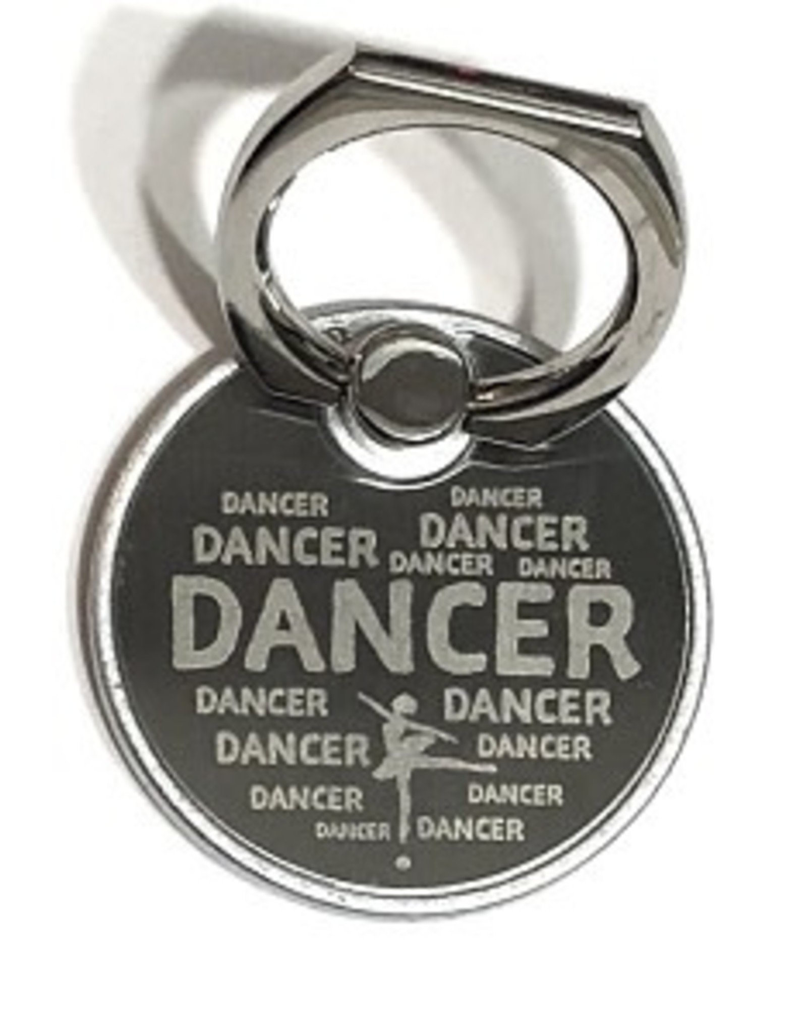 g420 Laser Engraved Metal DANCER Print Cell Phone Ring/Stand