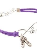 br68 Infinity, LOVE Ballet Slippers Bracelet