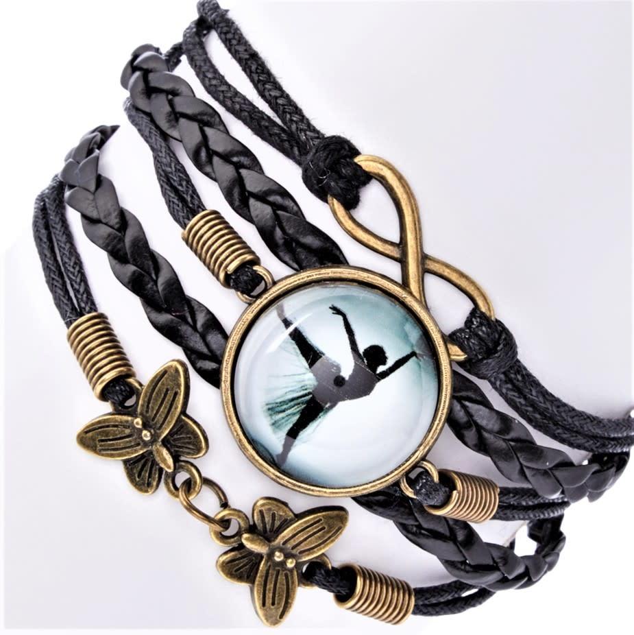 br82 Infinity, Arabesque & Butterflies Bracelet