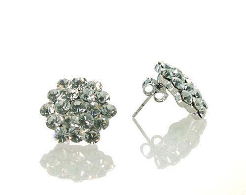 FH2 AZ0015 Crystal Cluster Earrings - pierced