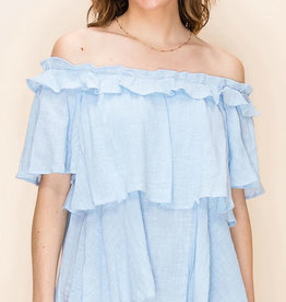 Favlux Off the Shoulder Ruffle Top