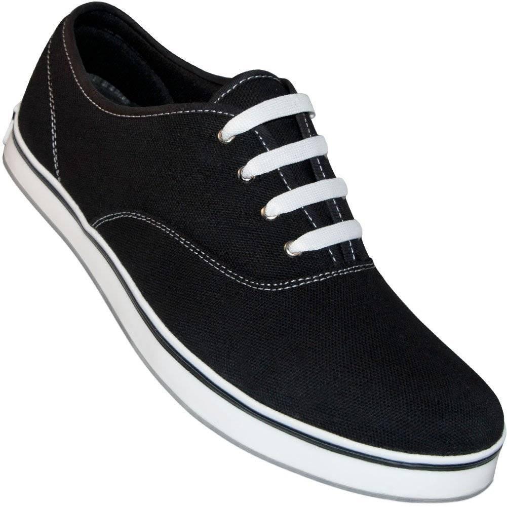 Aris Allen 8310-BK Aris Allen Men's Black Classic Dress Dance Sneaker