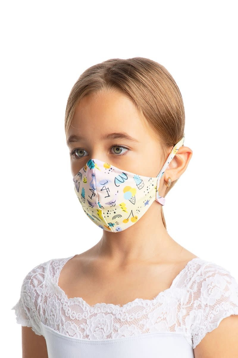 SoDanca L2179 Child Tied Fitted Face Mask