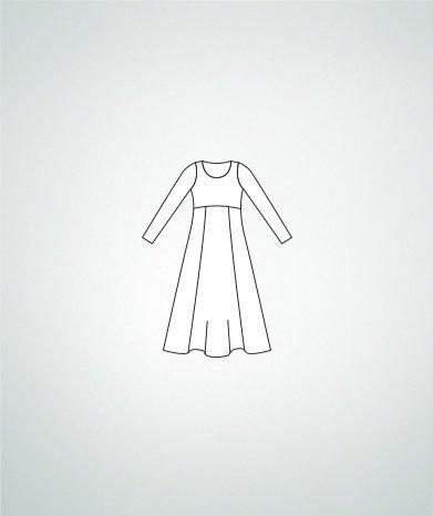 Body Wrappers 0585 Girls Empire Waist Dress