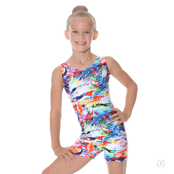 Eurotard 09503 Girls Crayon Art Gymnastics Biketard