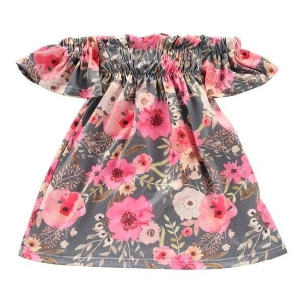 Mila & Rose Wild Flower Off the Shoulder Dress