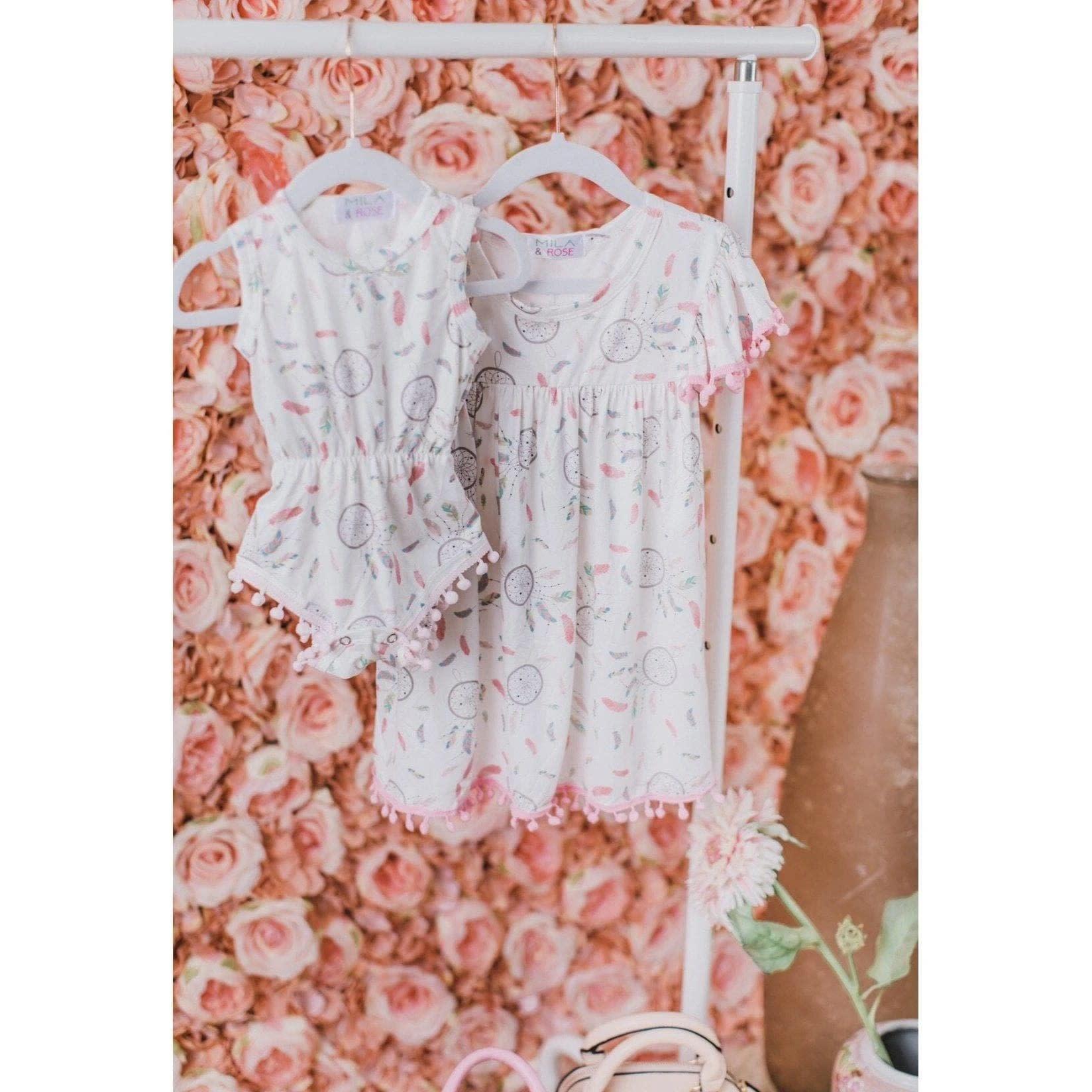 Mila & Rose Dreamy Feathers Pom Pom Dress