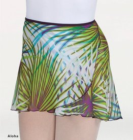 Body Wrappers 980 Short Tapered Print Classic Wrap Skirt