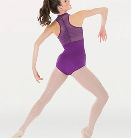 Body Wrappers P1002 Power Mesh Zip Front Leotard -
