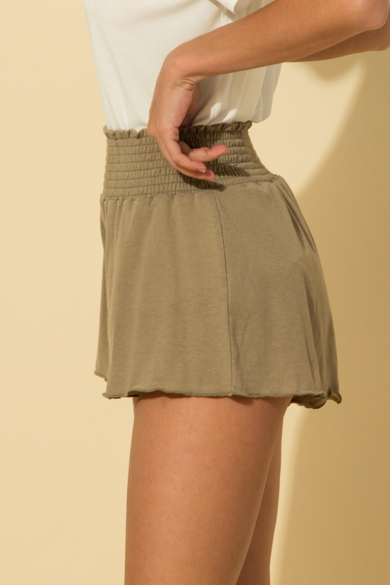HYFVE Smocked Waist Shorts