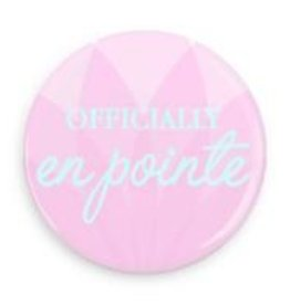 "B+ Printworks 100CC82 1"" Button - Officially en Pointe (Pink/Blue)"