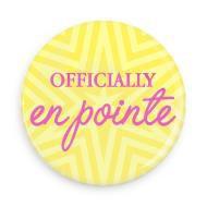 "B+ Printworks 100CC84 1"" Button - Officially en Pointe (Yellow)"