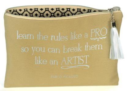 B+ Printworks 404CC89 Large Cosmetic Bag - Pablo Picasso