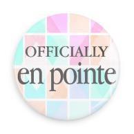 "B+ Printworks 100CC68 1"" Button - Officially en Pointe (Color Grid)"