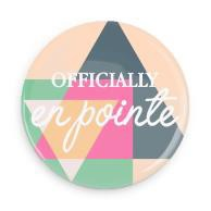 "B+ Printworks 100CC69 1"" Button - Officially en Pointe (Triangle)"