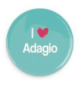 "B+ Printworks 750CC20 3"" Mirror - I Love Adagio"