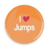 "B+ Printworks 750CC22 3"" Mirror - I Love Jumps"