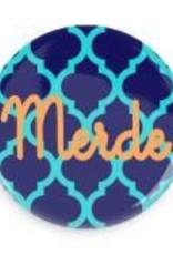 "B+ Printworks 750CC32 3"" Mirror - Merde (Blue)"