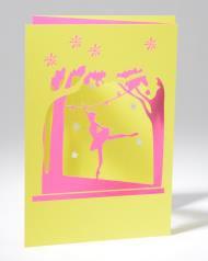 B+ Printworks 210PP01 Card - Ballerina (Pink/Green)