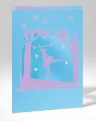 B+ Printworks 210PP02 Card - Ballerina (Blue/Purple)