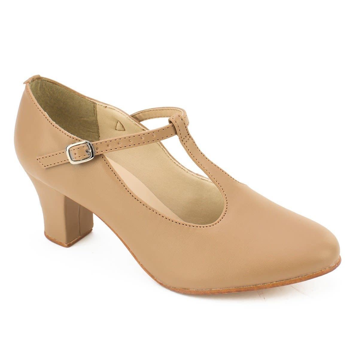 """SoDanca CH40 2"""" Heel T-Strap Character Shoe"""