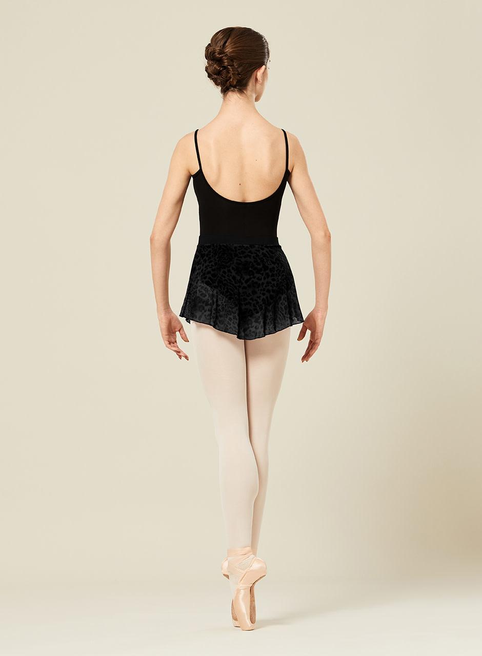 Bloch R2311 Janise Animal Print Mesh Pull On Skirt