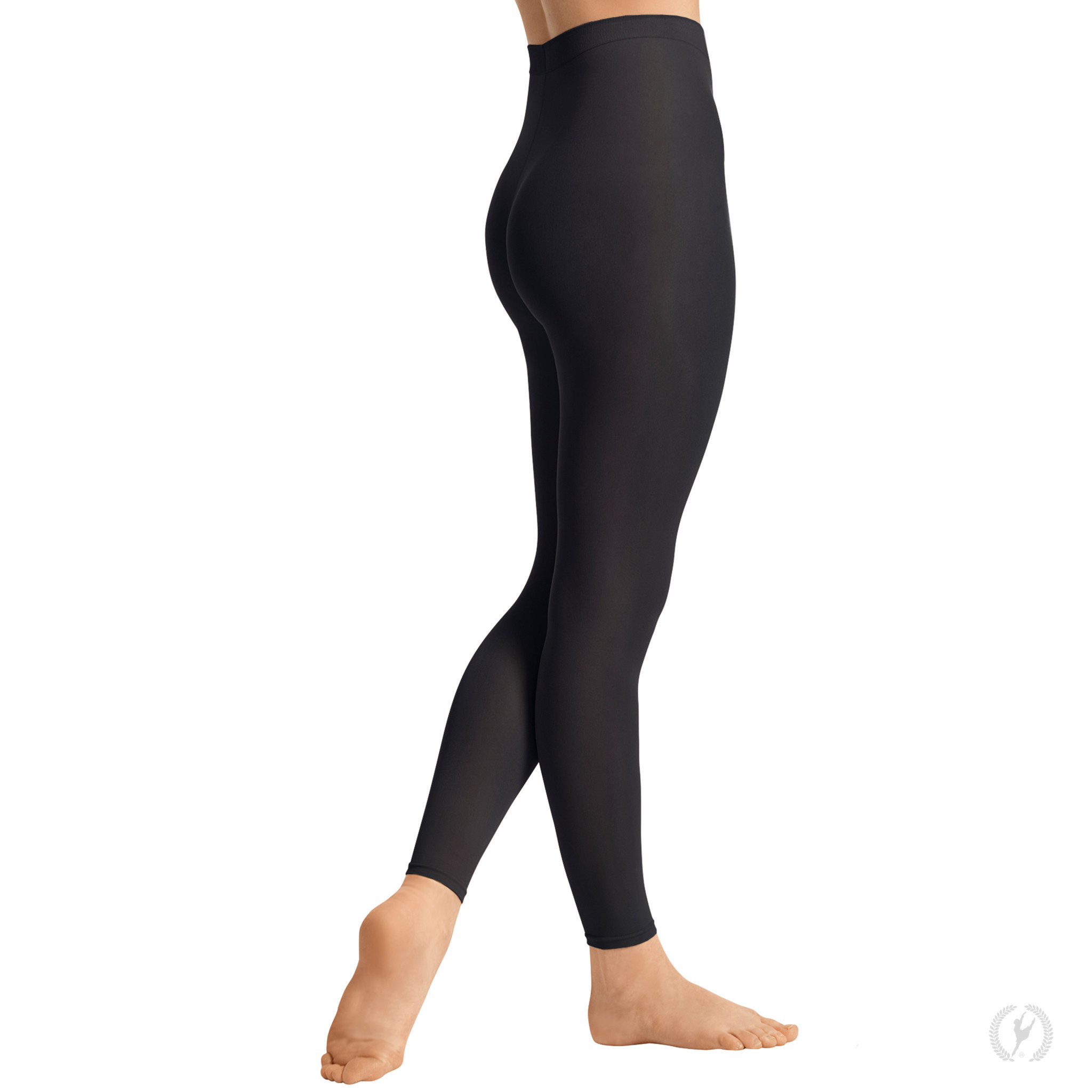 Eurotard 212c - Child Non-Run Footless Tights with Soft Knit Waistband