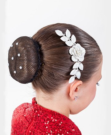 FH2 CO0025 White Flower Hair Comb