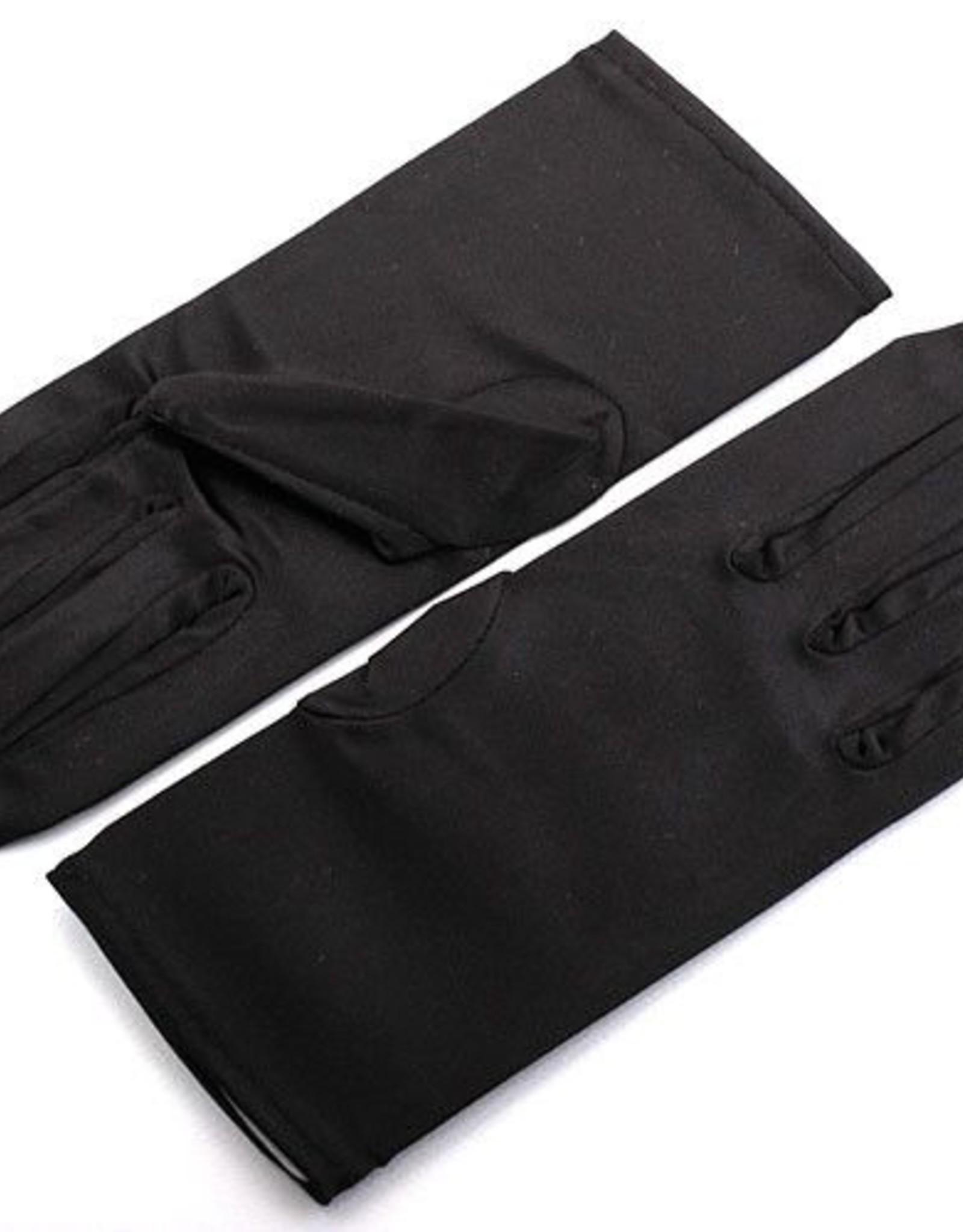 FH2 GL0015 Ladies Black Satin Gloves