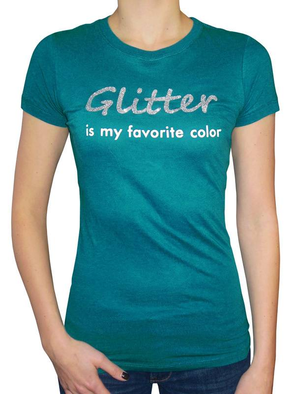 """Magnetic Impressions """"Glitter is My Favorite Color"""" T-Shirt"""