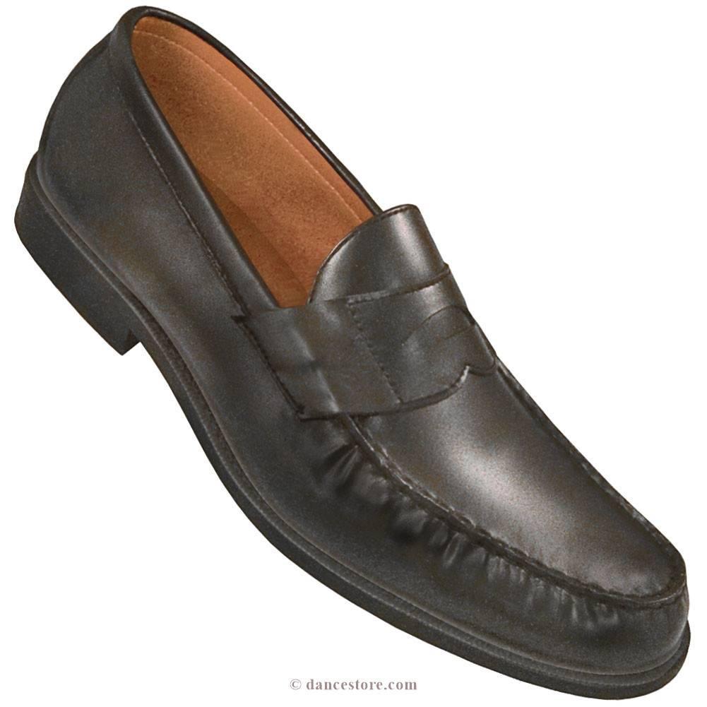 Aris Allen 8155-BK Aris Allen Men's Black Loafer w/special Heel