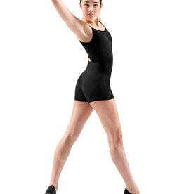 Bloch U4667 Cross Back Short Unitard - Black L