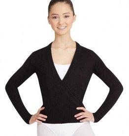Capezio CS301 Wrap Sweater - Black L