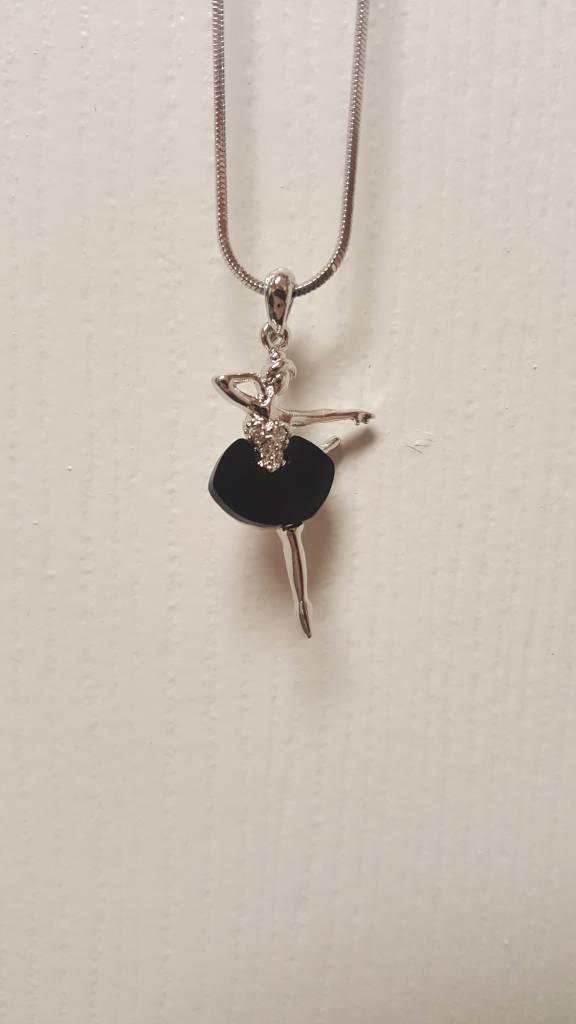 Little Bo-teek 1142 Ballerina Necklace  - Black