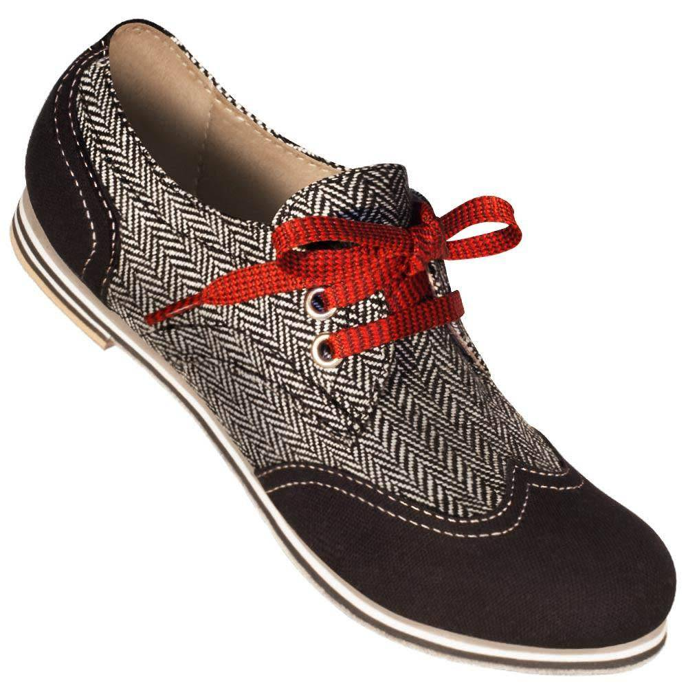 Aris Allen 330 Aris Allen Women's Canvas Wingtip Dance Shoes