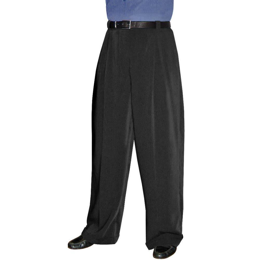 Aris Allen Men's Wide Leg Pleated Trousers