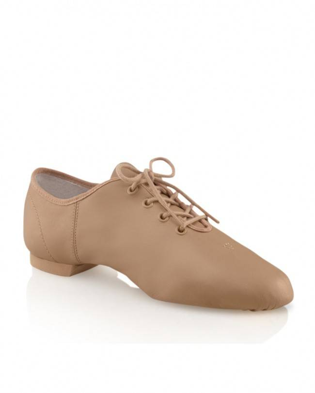 Capezio EJ1C Children's Entry Jazz Split Sole Leather Oxford Shoe