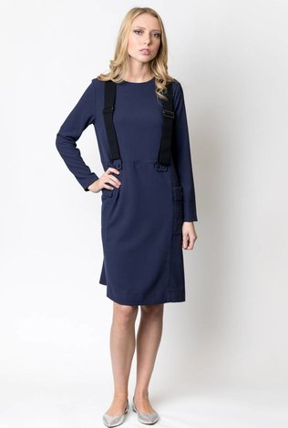 Weekend Patch Pocket Dress with Suspenders - 70% OFF!
