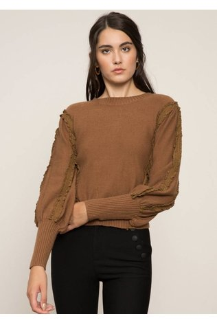 Lucy Paris Rachel Ruffled Sleeved Sweater