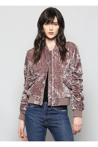 FATE Velvet Bomber Jacket