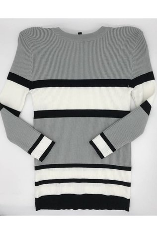 Front Row Couture Stripe Light Weight Sweater