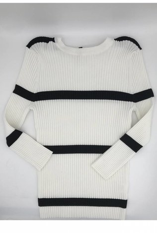 Front Row Couture Striped Summer Sweater